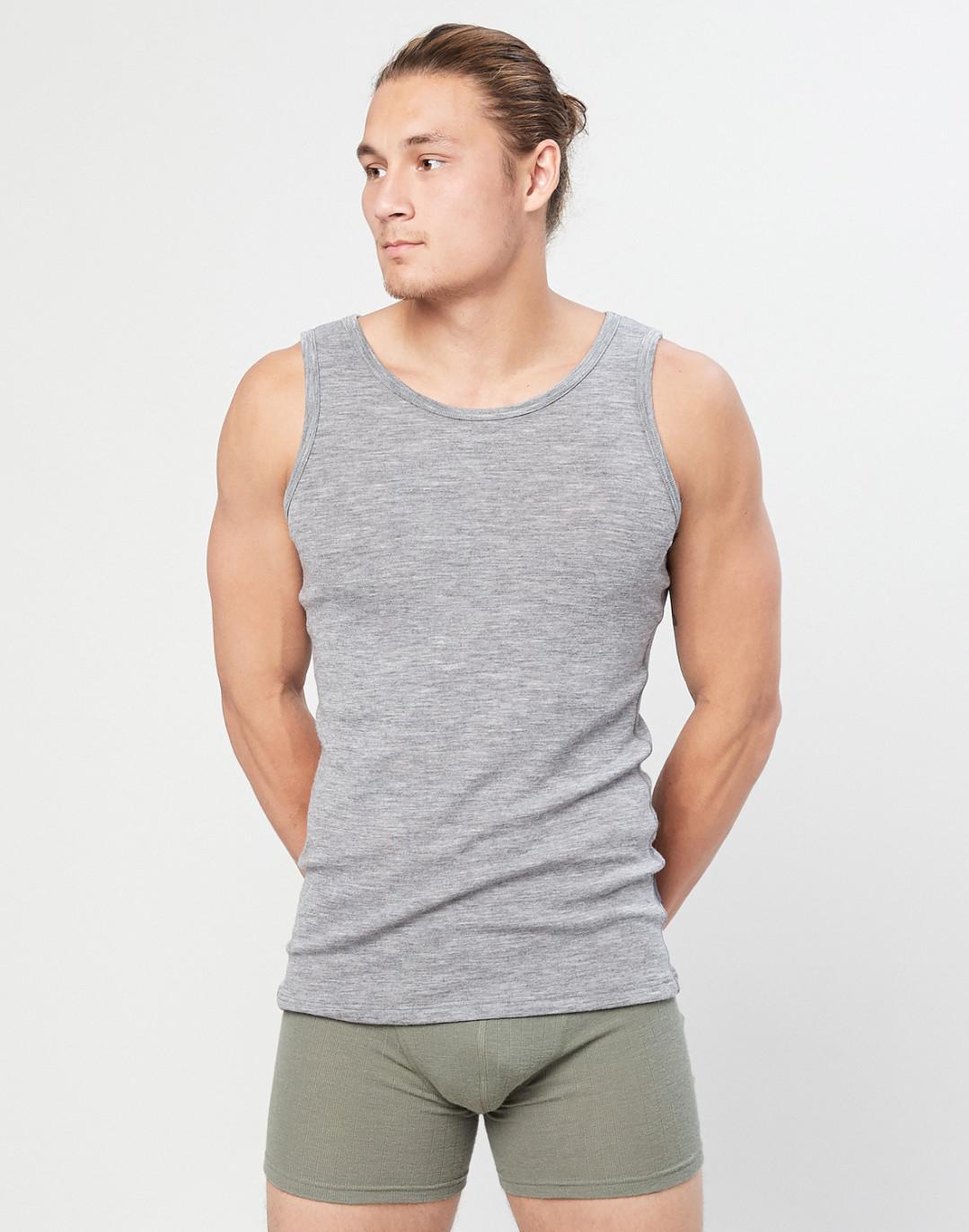 Merinos-shirt voor heren grijs