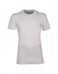 Katoenen T-shirt voor mannen grijs melange
