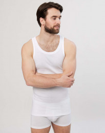 Premium Classic - katoenen athletic shirt voor heren wit