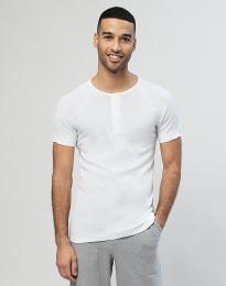 Premium Classic katoenen shirt met knooplijst voor heren wit
