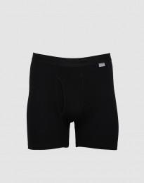 DILLING - Maatje meer katoenen boxershort met gulp zwart