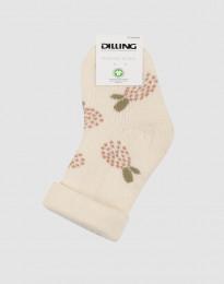 Baby sokken met motief - wollen terry crème