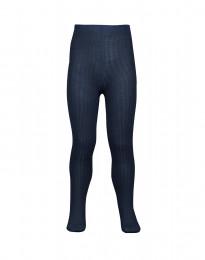 Baby maillot - biologisch merino wol met ribstructuur - donker petrolblauw