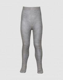 Baby maillot - biologische merino ribstructuur grijs melange