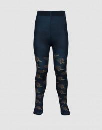 Baby maillot met motief - donker petrolblauw