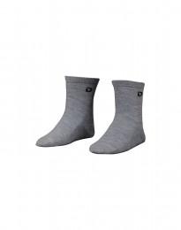 Kindersokken - natuurlijke merino wol grijs melange