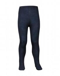 Kinder maillot - natuurlijke merino wol dusty blue