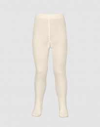 Kinder maillot - biologische merino ribstructuur crème