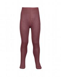 Kinder maillot - biologisch merino wol met ribstructuur rouge
