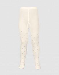 Kinder maillot - biologisch merino wol crème met stippen