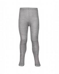 Kinder maillot - biologisch merino wol grijs melange met stippen