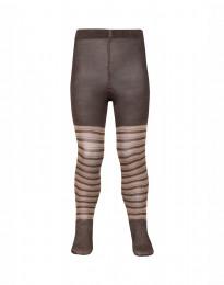 Kinder maillot - biologisch merino wol karamel/roze
