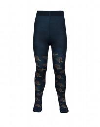 Kinder maillot met motief - donker petrolblauw