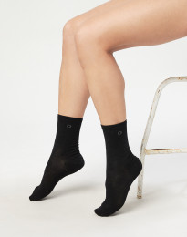 Damessokken - biologisch merino wol zwart