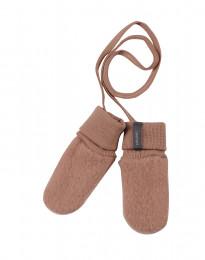 Handschoenen van wolfleece voor baby's donker beige
