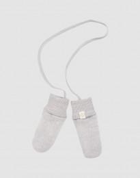 Handschoenen van wolfleece voor baby's lichtgrijs