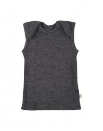 Merinos hemdje voor baby donker grijs melange