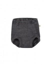 Merinos broekje voor baby donker grijs melange