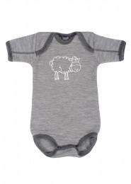 Merinos romper voor baby grijs melange