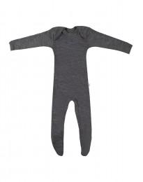 Merinowol baby kruippakje donker grijs melange