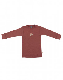Merino trui voor baby's rouge