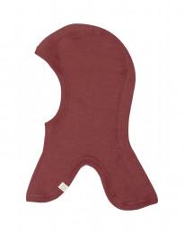 Bivakmuts van biologisch merino wol rouge