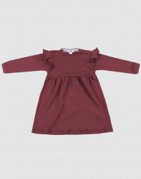 Wollen jurk voor baby's - biologisch merino wol kerstrood