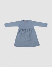 Wollen jurk voor baby's Blauw