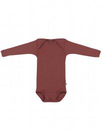 Baby romper met lange mouwen rouge