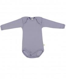 Baby romper met lange mouwen - BIO merinowol lila