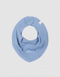 Baby slabbetje in natuurlijk katoen blauw