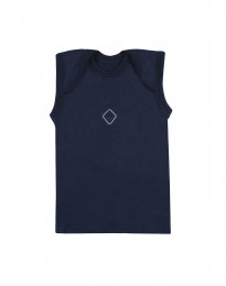 Baby onderhemd van natuurlijke katoen Marineblauw
