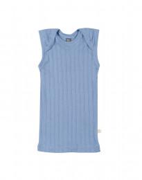 Baby onderhemd van natuurlijk katoen blauw