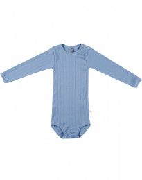 Baby romper met lange mouwen van natuurlijk katoen blauw