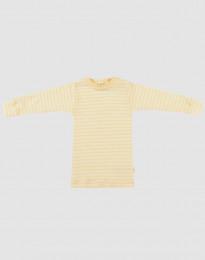 Baby trui van wol en zijde lichtgeel/natuur