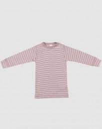 Baby trui van biologische wol en zijde pastelroze melange/natuur