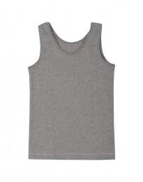 Bio katoenen onderhemd voor kinderen grijs melange