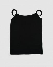 Katoenen top voor meisjes zwart