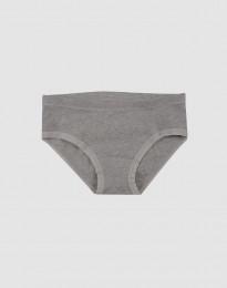 Katoenen slip voor meisjes grijs melange