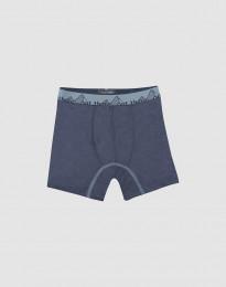 Boxershort voor kinderen - Exclusief natuurlijke merinowol blauwgrijs