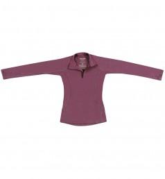 Kinder trui met rits gemaakt van Merinowol Violet