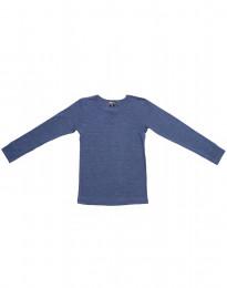 Kinder shirt met lange mouwen gemaakt van fijne wol en zijde