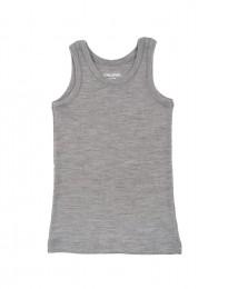 Merinoswol onderhemd voor kinderen grijs melange