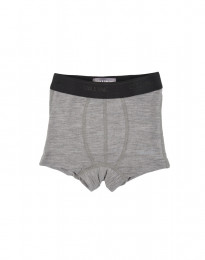 merinowol boxershorts voor jongens grijs melange