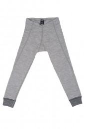 Legging van merinowol in de kleur grijs melange
