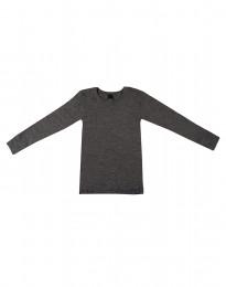 Kinder shirt gemaakt van BIO merinowol donkergrijs melange
