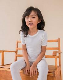 Natuurlijke merinowollen T-shirt voor kinderen