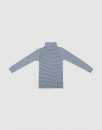 Coltrui van merino wol voor kinderen blauw gestreept