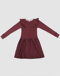 Wollen jurk voor kinderen - biologisch merino wol kerstrood