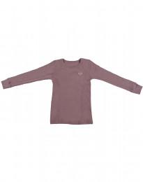 Kinder shirt gemaakt van Bio Merinowol roze